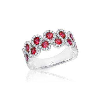 Melody of the Heart Ruby and Diamond Wave Ring