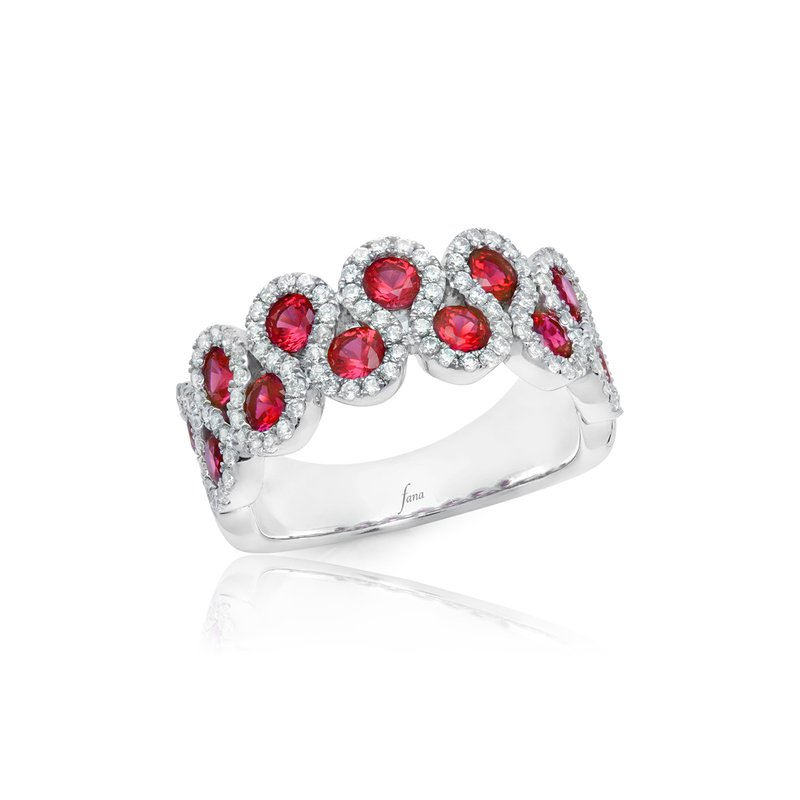 Fana Melody of the Heart Ruby and Diamond Wave Ring
