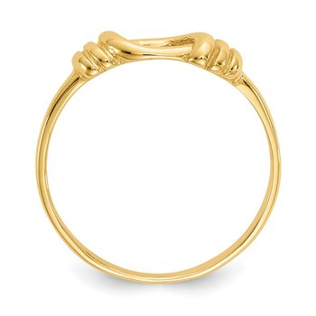 14K Love Knot Band