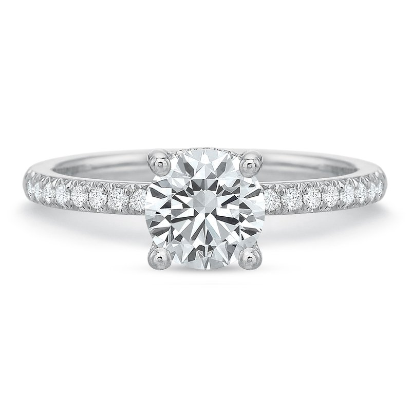 Precision Set 18K White gold Semi Mount for 0.75ct-1.50 ct center