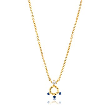 Dotted Circle Pendant Necklace