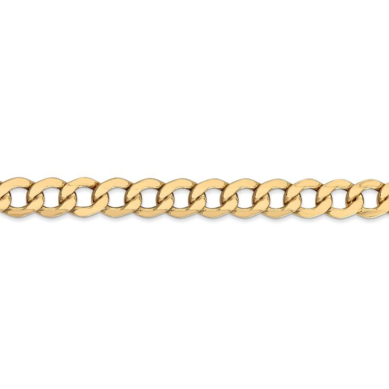 Leslie's Leslie's 14K 7.0mm Semi-Solid Curb Link Chain