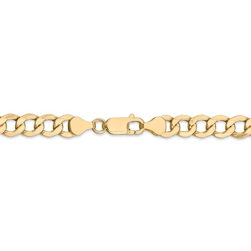 Leslie's Leslie's 14K 7mm Semi-Solid Curb Link Chain