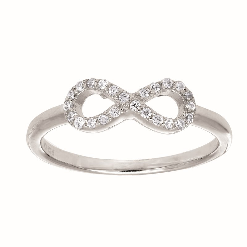 Royal Chain Silver CZ Infinity X Ring