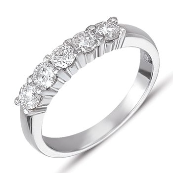 Diamond Band Shared Prong