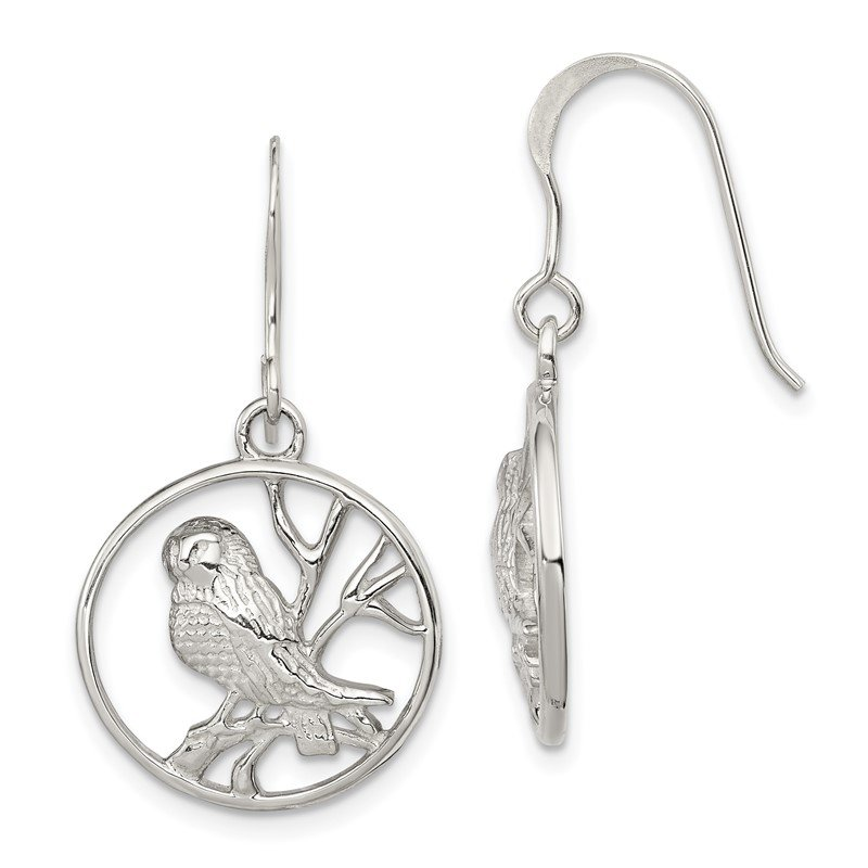 Quality Gold Sterling Silver Bird Earrings