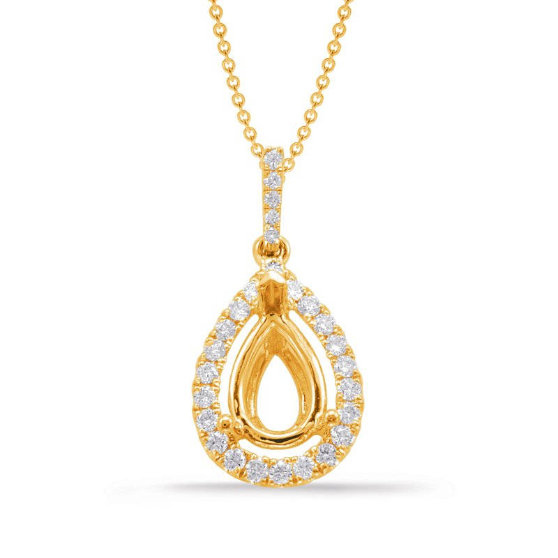 S. Kashi  & Sons Diamond Pendant For 9X6mm Pear Center