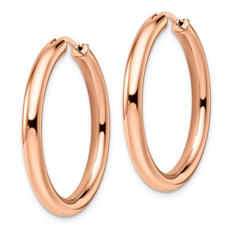 Leslie's Leslie's Sterling Silver Rose Gold-plated 3.5mm Tube Earrings