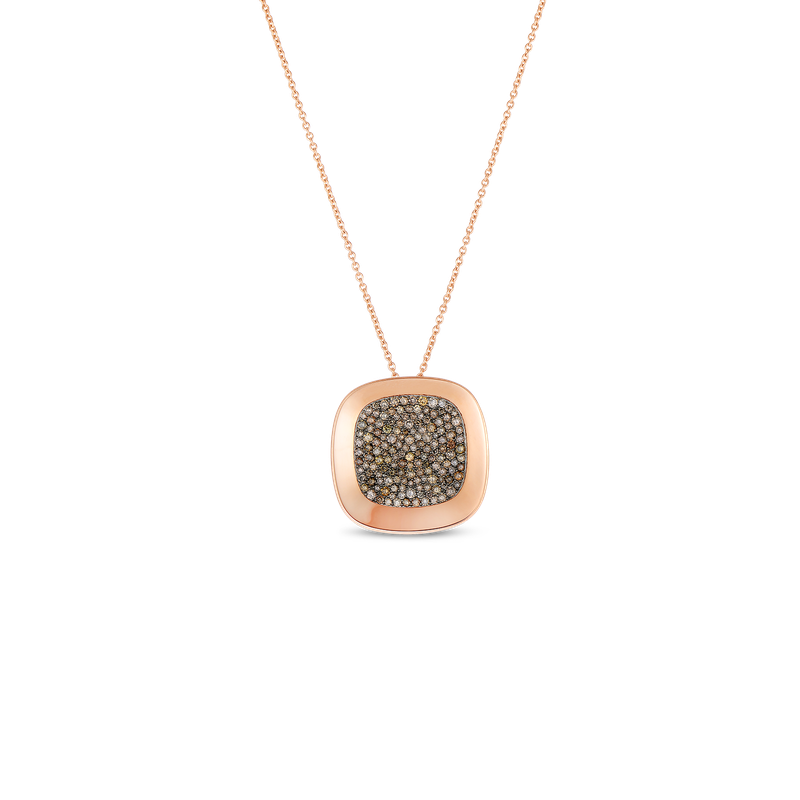 Roberto Coin 18Kt Gold Large Pendant With Brown Diamonds