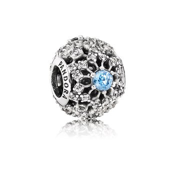Disney, Cinderella's Wish Charm, Frosty Mint CZ