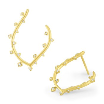 14k Gold and Diamond Earings