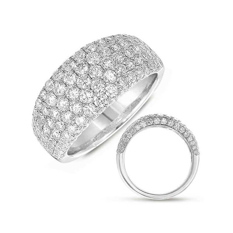 S. Kashi & Sons Bridal White Gold Pave Ring