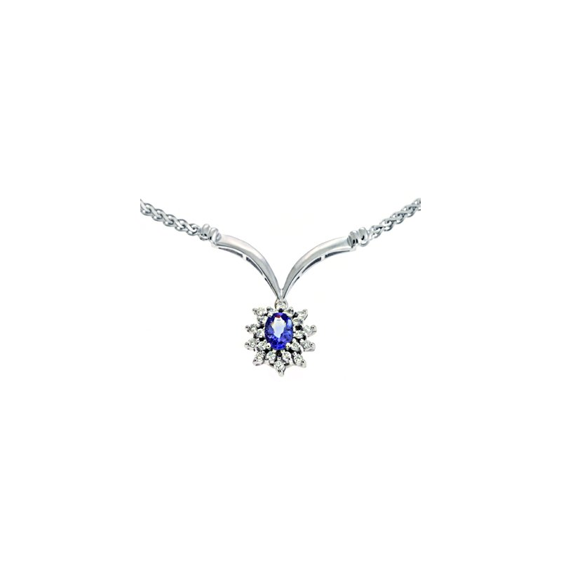S. Kashi  & Sons Tanzanite./diamond Necklace