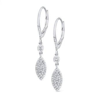 14K Diamond Fashion Dangler Earrings