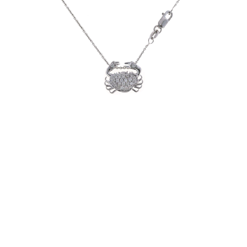 18Kt Gold Diamond Crab Pendant