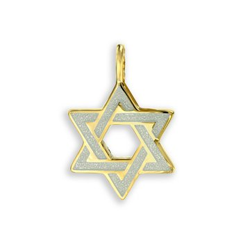 White Star of David Pendant.18K