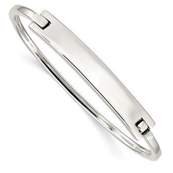 Sterling Silver ID Hinged Bangle