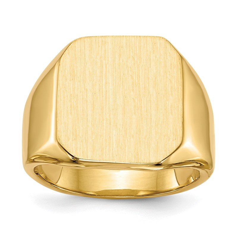 JC Sipe Essentials 14k 17.0x15.0mm Closed Back Men's Signet Ring