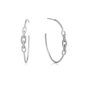 Links Hoop Earrings