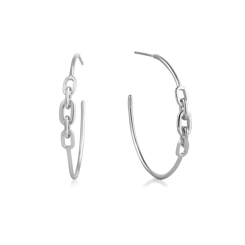 Ania Haie Links Hoop Earrings