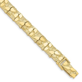 10k 10.0mm NUGGET Bracelet