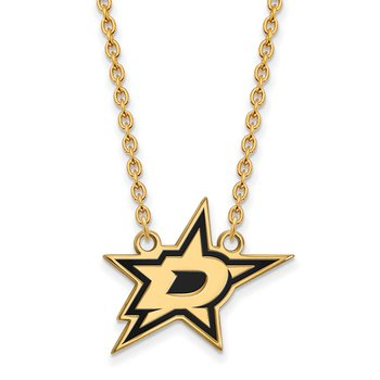 Gold-Plated Sterling Silver Dallas Stars NHL Necklace