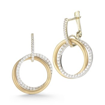 "14K-Y ""CIRCLE OF LOVE"" EARR., 0.70CT"