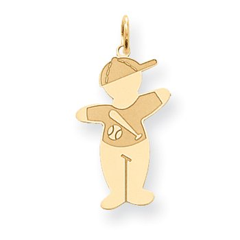 14K Cuddles Baseball Player Charm
