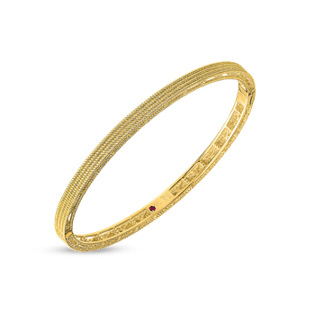 18KT GOLD SYMPHONY BAROCCO OVAL BANGLE