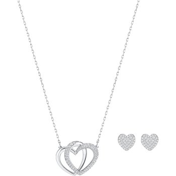Dear Set, White, Rhodium plated