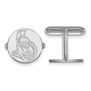 Sterling Silver Ottawa Senators NHL Cuff Links