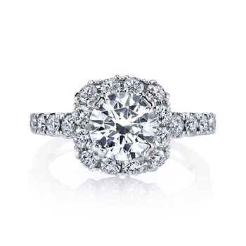 MARS 26496 Diamond Engagement Ring 0.87 Ctw.
