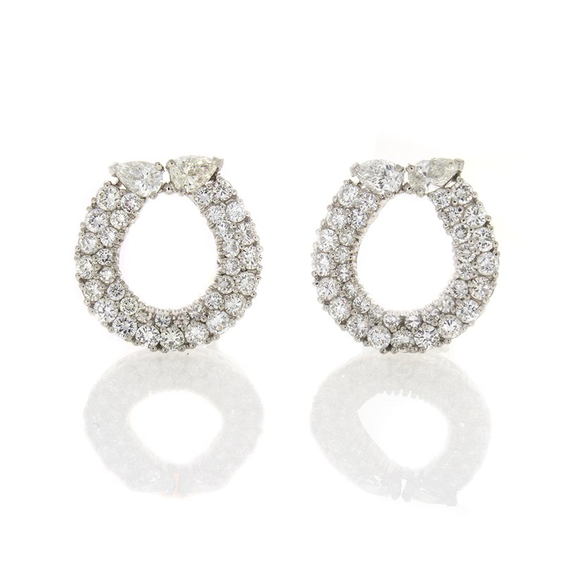 William Levine WINNERS CIRCLE DIAMOND EARRINGS