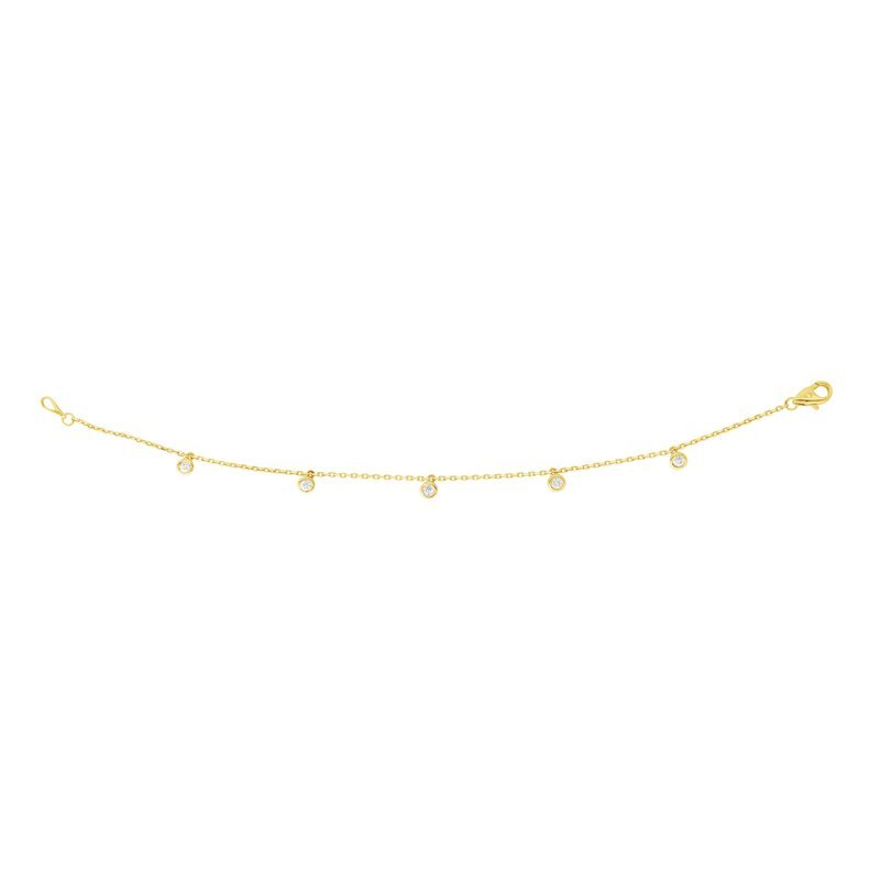 Royal Chain 14K Gold .25ct Diamonds by the Yard Bracelet