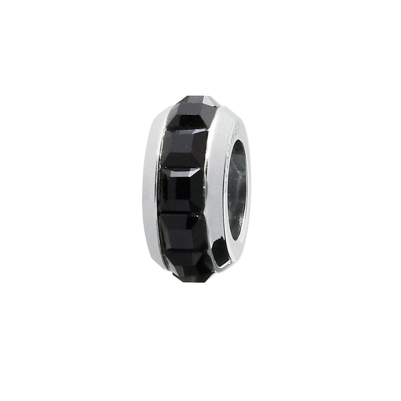 Brosway 316L stainless steel and black Swarovski® Elements crystals