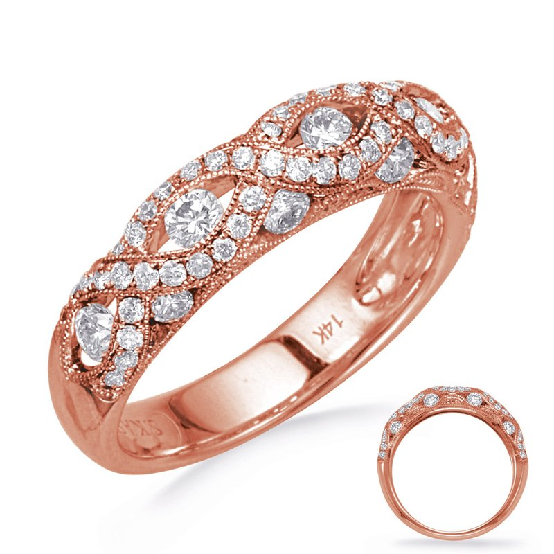 S. Kashi & Sons Bridal Rose Gold Diamond Fashion Band
