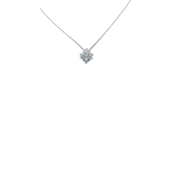 18KT WHITE GOLD DIAMOND STAR PENDANT