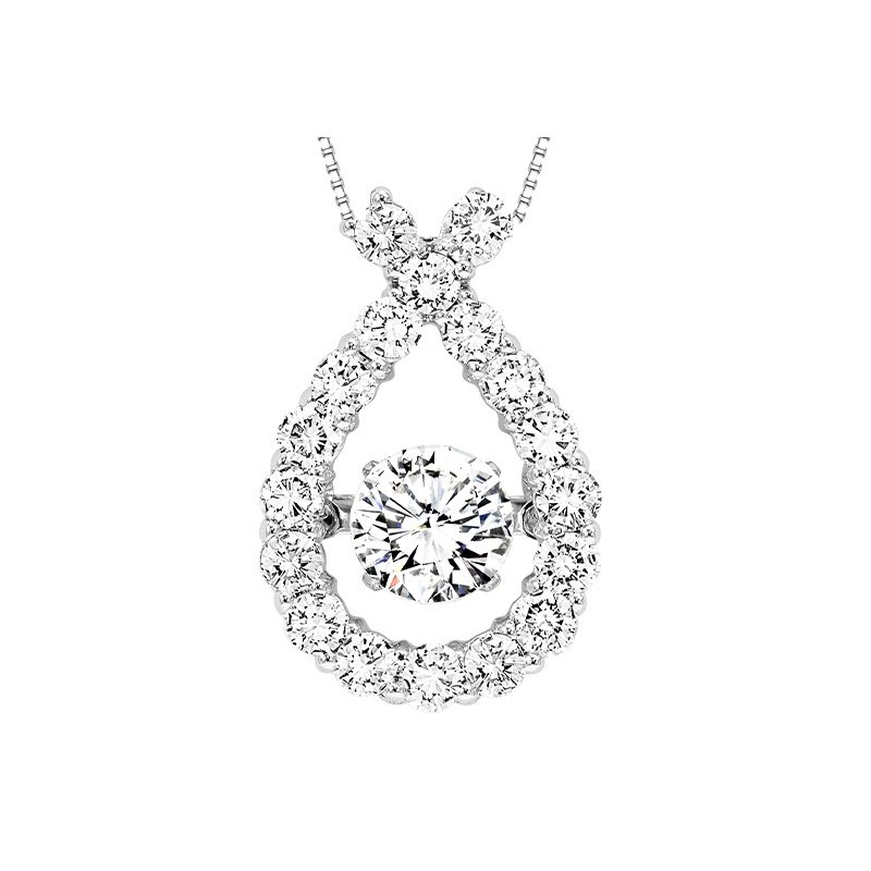 Rhythm of Love 14K Diamond Rhythm Of Love Pendant 1 ctw