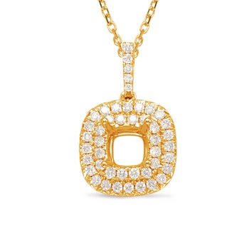 Diamond Pendant 1.25ct Cushion Center