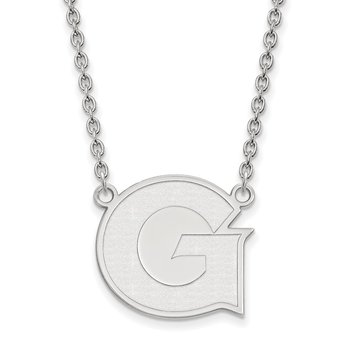 Sterling Silver Georgetown University NCAA Necklace
