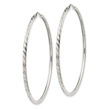 Sterling Silver D/C Hoop Earrings