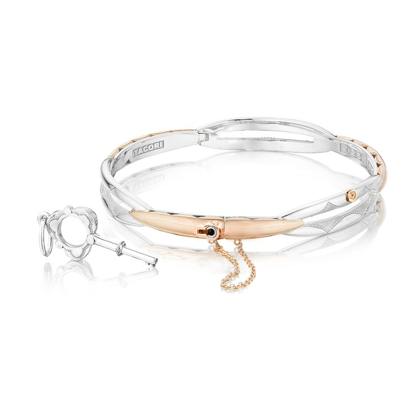 Tacori Promise Bracelet Round, Rose Gold and Silver