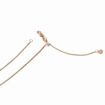 Leslie's 14K Rose Gold 1 mm Adjustable Wheat Chain