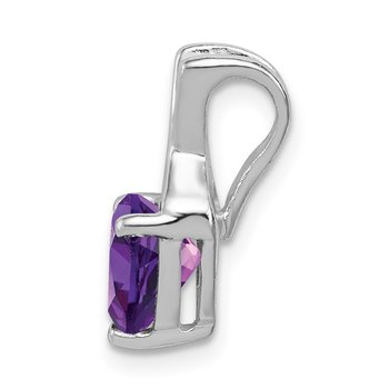 Sterling Silver Polished Amethyst Fancy Pendant