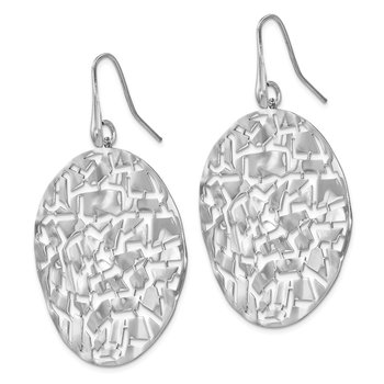 Leslie's SS Rhodium-plated Circle Earrings