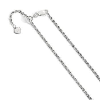Leslie's Sterling Silver 2 mm Adjustable D/C Rope Chain