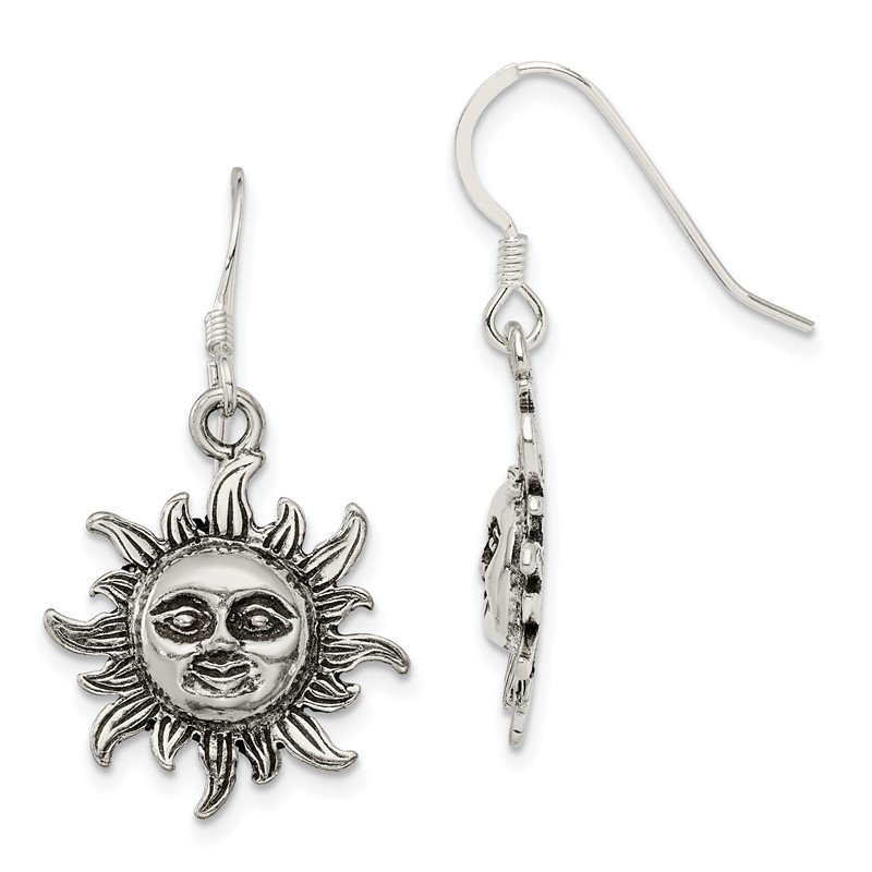 Quality Gold Sterling Silver Sun Earrings