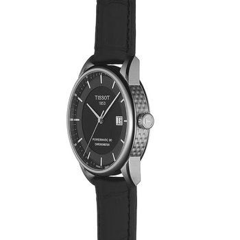 Luxury Automatic COSC Men's Watch with Black Leather Strap