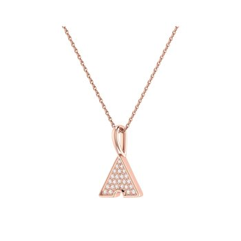 Skyscraper Pendant in 14 KT Rose Gold Vermeil on Sterling Silver
