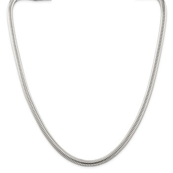 Sterling Silver 6mm Round Snake Chain